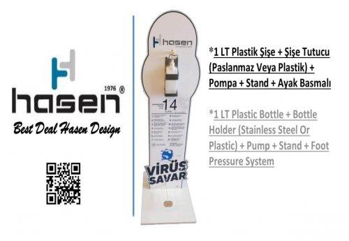 Plastik Şişe + Şişe Tutucu (Paslanmaz Veya Plastik) + Pompa + Stand + Ayak Basma