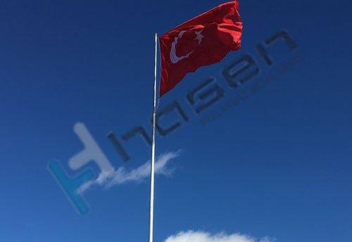 Asansörlü Galvaniz Bayrak  Direği